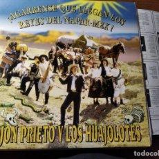 Discos de vinilo: KOJON PRIETO Y LOS HUAJOLOTES (EX - TIJUANA IN BLUE) ********** RARO LP 1993 IMPECABLE CON POSTER. Lote 218342957