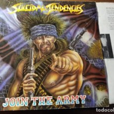 Discos de vinilo: SUICIDAL TENDENCIES - JOIN THE ARMY ********** RARO LP HARDCORE PUNK USA 1987. Lote 218343525
