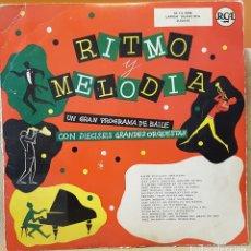 Discos de vinilo: RITMO MELODIAS CON DIECISEIS GRANDES ORQUESTAS. Lote 218364535