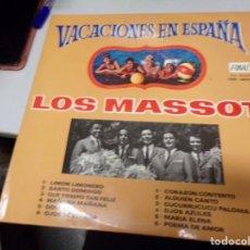 Discos de vinilo: VACACIONES EN ESPAÑA - LOS MASSOT. Lote 218375002