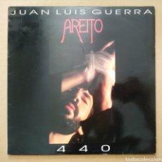 Discos de vinilo: LP VINILO JUAN LUIS GUERRA 440: AREITO (BMG, 1992). CON LETRAS DE LAS CANCIONES.. Lote 218381306