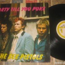 Discos de vinilo: SEX PISTOLS PARTY TILL YOU PUKE 1989 TNT ORIGINAL ALEMANIA LEA DESCRIPCION. Lote 218392932