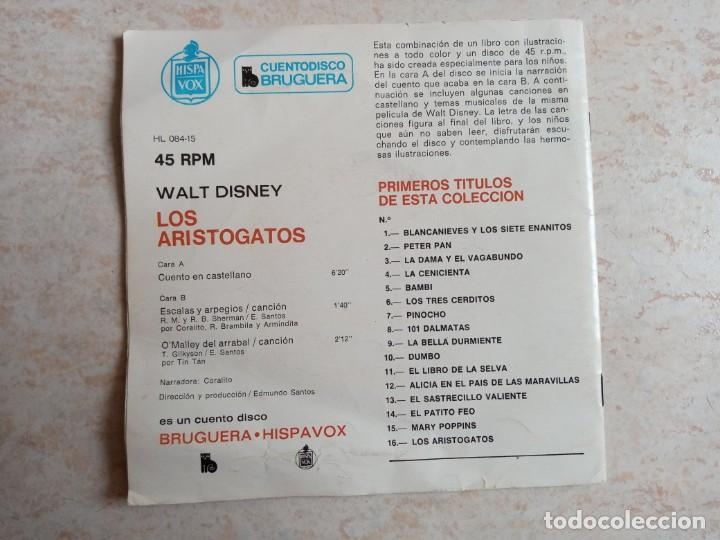Discos de vinilo: Cuento disco Bruguera. 16.Los aristogatos.Hispavox 1971 - Foto 2 - 218396502