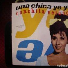 Discos de vinilo: CONCHITA VELASCO- UNA CHICA YEYÉ. MAXI.. Lote 218397207