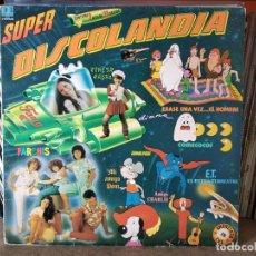 Discos de vinilo: SUPER DISCOLANDIA - DOBLE LP - PARCHIS, POPITOS, REGALIZ, WONDER DOG, INTERFASE, LA PANDA, ETC. Lote 218398928
