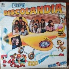 Discos de vinilo: NUEVO DISCOLANDIA ( PARCHIS, REGALIZ, POPITOS, LA PANDA, MARIA JESUS, COLORINES, ETC. Lote 218398996