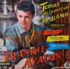 Discos de vinilo: FRANKIE AVALON. CANCION DEL ALAMO + 3. TEMAS DE LA PELICULA. EP ESPAÑA. Lote 218400086