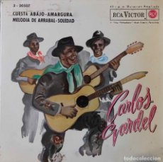 Discos de vinilo: CARLOS GARDEL. CUESTA ABAJO + 3 EP ESPAÑA. Lote 218400265