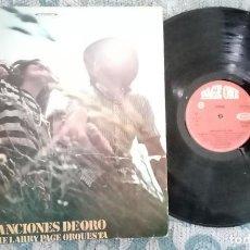 Discos de vinilo: LP CANCIONES DE ORO THE LARRY PAGE ORQUESTA. Lote 218400292