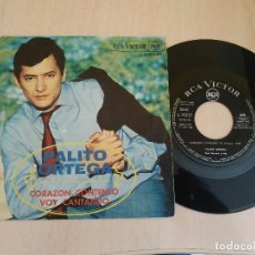 Discos de vinilo: PALITO ORTEGA ?- CORAZON CONTENTO / VOY CANTANDO - SINGLE ESPAÑOL RCA VICTOR AÑO 1968 - BUEN ESTADO. Lote 218405098