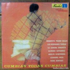 Discos de vinilo: VV.AA - CUMBIAS TODAS CUMBIAS - 1979 - COLOMBIA, SONORA DINAMITA, PACHO GALÁN, NONO NARVÁEZ, ETC. Lote 218410280