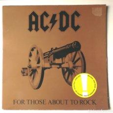Disques de vinyle: LP ALBUM , AC/DC , FOR THOSE ABOUT TO ROCK , SPAIN ED.. Lote 232781685