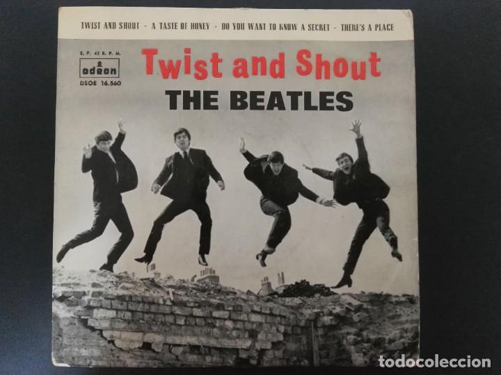 Discos de vinilo: THE BEATLES - TWIST AND SHOUT / TASTE OF HONEY + 2 - EP - ODEON 1963 SPAIN DSOE 16.560 - Foto 1 - 218422241