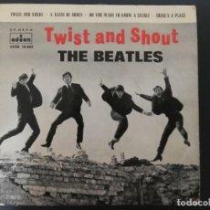 Discos de vinilo: THE BEATLES - TWIST AND SHOUT / TASTE OF HONEY + 2 - EP - ODEON 1963 SPAIN DSOE 16.560. Lote 218422241