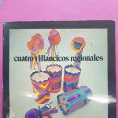 Discos de vinilo: 4 VILLANCICOS REGIONALES EP.SELLO REGSON, AÑO 1972. Lote 218427355