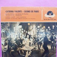 Discos de vinilo: CATERINA VALENTE ,CASINO DE PARIS,POLYDOR, AÑO 1958. Lote 218427808