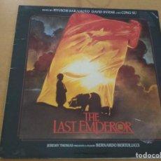 Discos de vinilo: THE LAST EMPEROR ( EL ULTIMO EMPERADOR) LP GATEFOLD (SAKAMOTO-BYRNE) AND CONG SU SPAIN. Lote 218430291