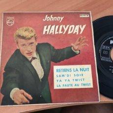 Dischi in vinile: JOHNNY HALLYDAY (RETIENS LA NUIT) EP ESPAÑA 1962 (EPI19). Lote 218435261