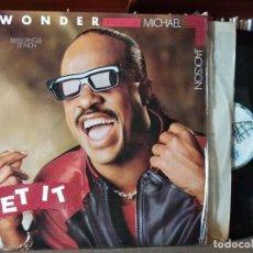 Discos de vinilo: STEVIE WONDER & MICHAEL JACKSON - GET IT - MAXI - USA - MOTOWN. Lote 218438765