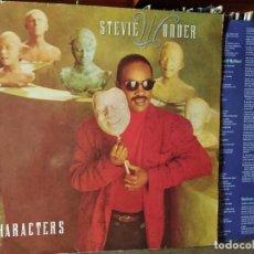 Discos de vinilo: STEVIE WONDER - CHARACTERS - SPAIN - MOTOWN 1987 INCLUYE DUETO CON MICHAEL JACKSON. Lote 218440078
