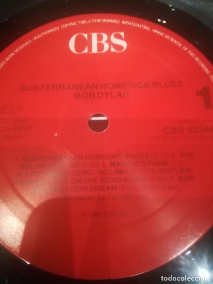 Discos de vinilo: Bob Dylan.Subterranean Homesick Blues.Bringin it all back home.Vinilo edición francesa años 80.CBS. - Foto 9 - 218441765