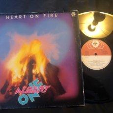 Discos de vinilo: ALBERT ONE – HEART ON FIRE 1985 ITALO-DISCO. Lote 218444427