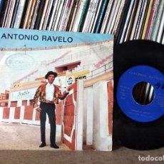 Discos de vinilo: ANTONIO RAVELO. SINGLE. ROMANCE DE VALENTIA. MADE IN SPAIN. 1972 CANTANTE CANARIO. Lote 218445220