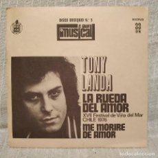 Discos de vinilo: TONY LANDA - LA RUEDA DEL AMOR +1 - RARO FLEXI DISCO DE 1976 PROMOCIONAL OBSEQUIO DE EL GRAN MUSICAL. Lote 218445970