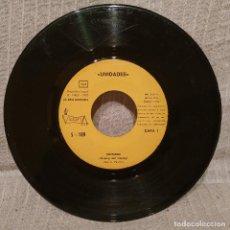 Discos de vinilo: UNIDADES - CANTANDO / LEJOS DEL MUNDO - SINGLE SELLO VICTORIA AÑO 1972 SIN PORTADA. Lote 218446985