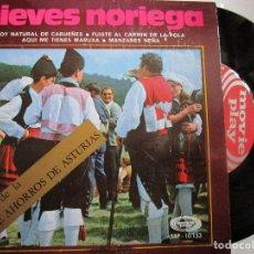 Discos de vinilo: NIEVES NORIEGA SOY NATURAL DE CABUEÑES - OBSEQUIO DE LA CAJA DE AHORROS DE ASTURIAS. Lote 218458992