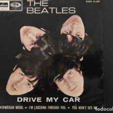 Discos de vinilo: THE BEATLES - DRIVE MY CAR + 3 - EP ODEON DSOE 16.689 - EDICION ESPAÑOLA. Lote 218471617