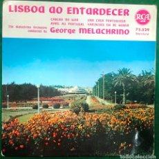 Discos de vinilo: GEORGE MELACHRINO - LISBOA AO ENTARDECER / EP RCA RF-4555. Lote 218474428