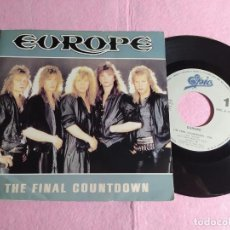 "Discos de vinilo: 7"" EUROPE – THE FINAL COUNTDOWN / ON BROKEN WINGS - EPIC EPC A 7127 - PORTUGAL PRESS (VG+/VG++). Lote 218475911"
