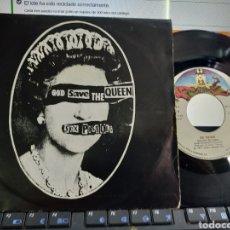 Discos de vinilo: SEX PISTOLS SINGLE GOD SAVE THE QUEEN ESPAÑA 1977. Lote 136985682