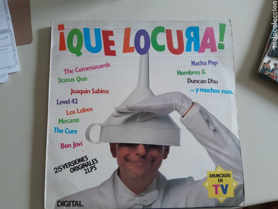 Discos de vinilo: Lote de 5 Vinilo LP Exitos Boom Que locura Decada prodigiosa Lambada - Foto 3 - 218492653