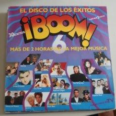 Discos de vinilo: LOTE DE 5 VINILO LP EXITOS BOOM QUE LOCURA DECADA PRODIGIOSA LAMBADA. Lote 218492653