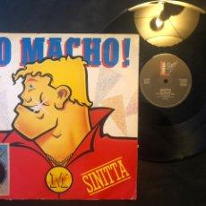 Discos de vinilo: SINITTA – SO MACHO! 1985 ITALO-DISCO. Lote 218494565