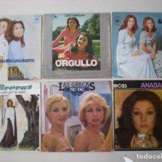 Discos de vinilo: LAS GRECAS - LOTE DE 6 SINGLES CBS - ESPAÑA. Lote 218503442