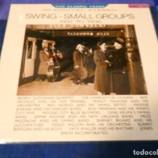 Discos de vinilo: LOJZ78 LP JAZZ UK THE SWING- SMALL GORUPS 1931-36 MUY BUEN ESTADO. Lote 218514516