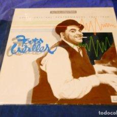 Discos de vinilo: LOJZ78 LP JAZZ UK AÑOS 80 MUY BUEN ESTADO FATS WELLER GREAT PERFORMANCES 1927-34. Lote 218517243