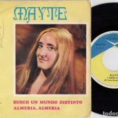 Discos de vinilo: MAYTE - BUSCO UN MUNDO DISTINTO - SINGLE DE VINILO - DISCOS VALOR - CHICA YE YE #. Lote 218524663