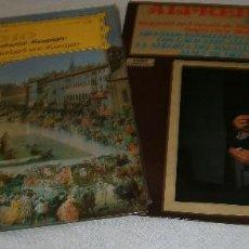 Discos de vinilo: 2 LPS ADAGIO BERLINER PHILHARMONICA - HERBER VON KARAJAN - ALFREDO KRAUS TENOR. Lote 218543008