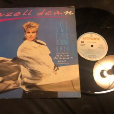 Discos de vinilo: HAZELL DEAN ?– THEY SAY IT'S GONNA RAIN (INDIAN SUMMER MIX). Lote 218544287