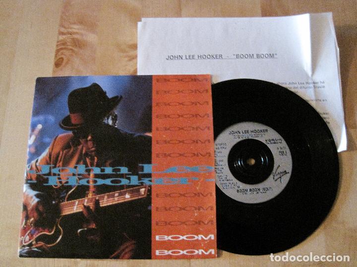 SINGLE JOHN LEE HOOKER BOOM BOOM VIRGIN EUROPA + INSERT VIRGIN ESPAÑA BLUES (Música - Discos - Singles Vinilo - Jazz, Jazz-Rock, Blues y R&B)