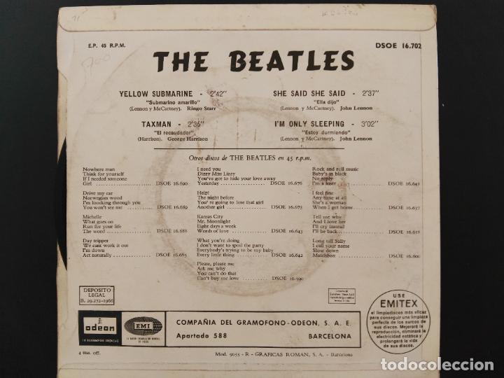 Discos de vinilo: THE BEATLES - YELLOW SUBMARINE - DSOE 16.702 - EP 1966 - Foto 2 - 218563445