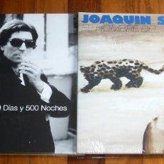Discos de vinilo: JOAQUIN SABINA 19 DIAS Y 500 NOCHES Y EL HOMBRE DEL TRAJE GRIS LOTE 2 LP VINILOS PRECINTADOS. Lote 218571830