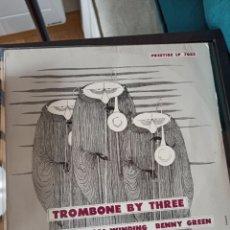 Discos de vinilo: J.J. JOHNSON / KAI WINDING / BENNY GREEN – TROMBONE BY THREE ( OJC-091, GERMANY, 1984). Lote 218587125