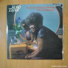 Discos de vinilo: KOKO TAYLOR - FROM THE HEART OF A WOMAN THE EARTHSHAKER - 2 LP. Lote 218587187