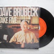Discos de vinilo: THE DAVE BRUBECK QUARTET ?– TAKE FIVE SINGLE JAZZ 1971 VG++/VG++. Lote 218589352