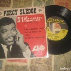 Discos de vinilo: PERCY SLEDGE - WHEN A MAN LOVES A WOMAN + 3 - EP (ATLANTIC 1966) -OG FRANCIA. Lote 218599975